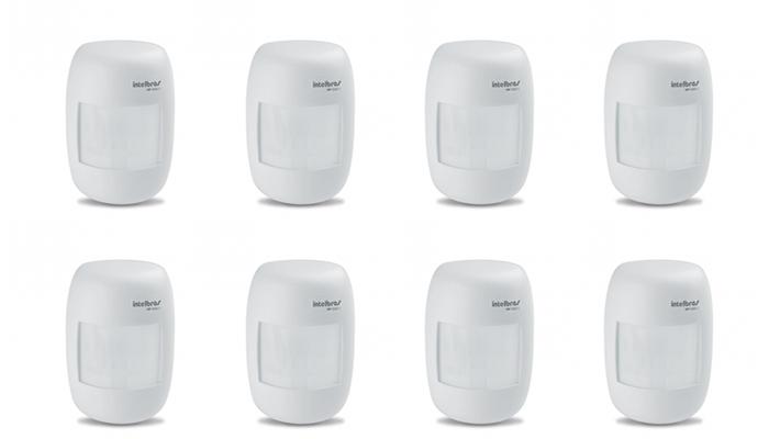 Kit 8 Sensores Alarme Passivo Sem Fio IVP 2000 SF Intelbras