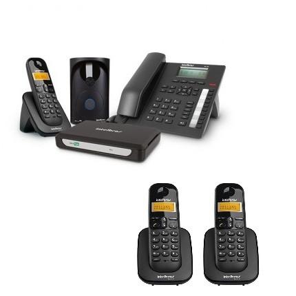 Kit Central Telefônica Sem Fio MiniCom Plus + 2 Ramais Intelbras