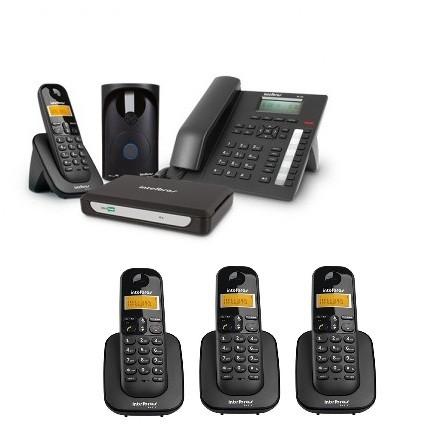 Kit Central Telefônica Sem Fio MiniCom Plus + 3 Ramais Intelbras