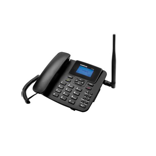 Kit GSM Telefone Celular Fixo 1 Chip com Antena e Cabo CFA 4211 Intelbras