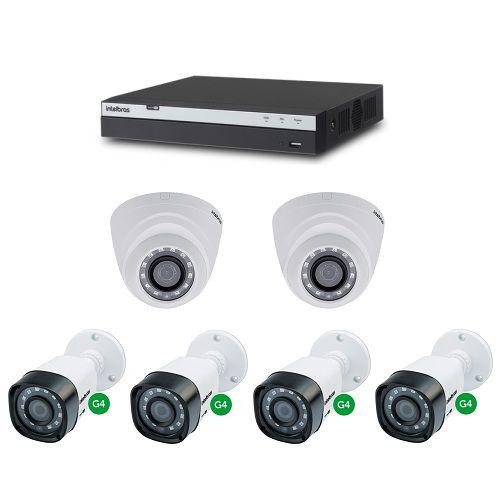 Kit CFTV 1 DVR Stand alone 08 Canais + 2 Câmeras 2 Megas + 4 Câmeras 1 Mega - Intelbras