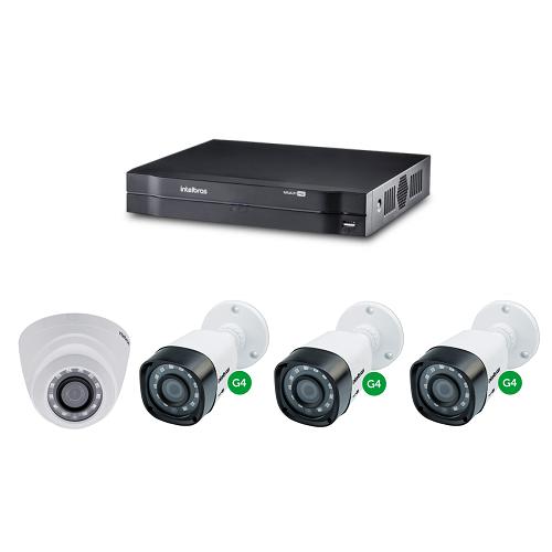 Kit CFTV Dvr Stand Alone 4 Canais +  4 Câmeras 1 Mega Intelbras
