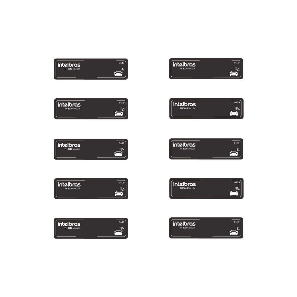 Kit 10 Tags Etiquetas Adesivas Veicular RFID 900MHz TH 3010 Intelbras