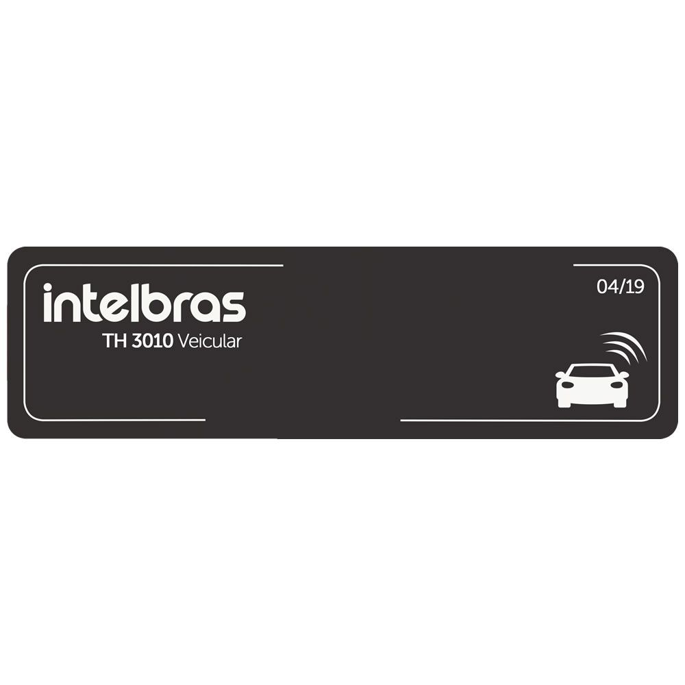 Kit 20 Tags Etiquetas Adesivas Veicular RFID 900MHz TH 3010 Veicular Intelbras