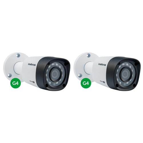 Kit CFTV 2 Câmeras Multi HD HDCVI 1 Mega 3.6 mm 10m VHD 1010 B G4 Intelbras