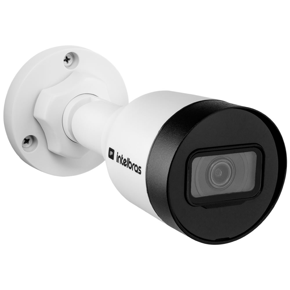 Kit 3 Câmeras IP 4 Megapixels 3.6mm 30m Inteligência de Vídeo VIP 1430 B Intelbras