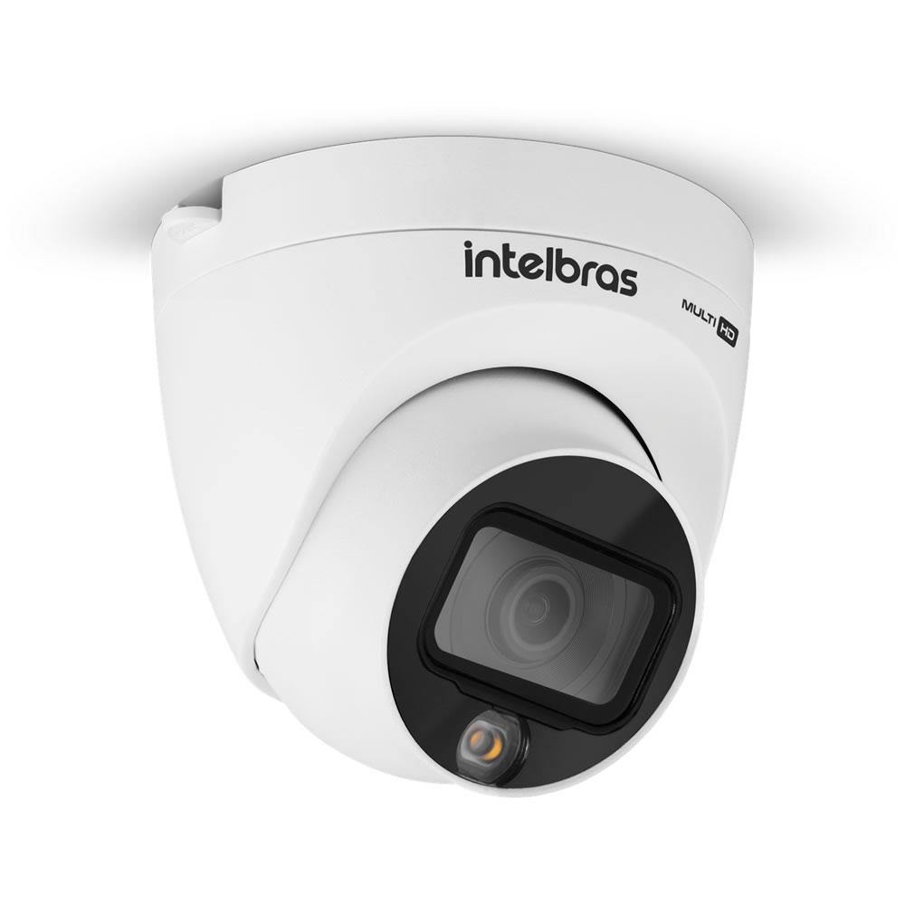 Kit 4 Câmeras Multi HD 2 Megapixels 2.8mm 20m VHD 1220 D FULL COLOR Intelbras