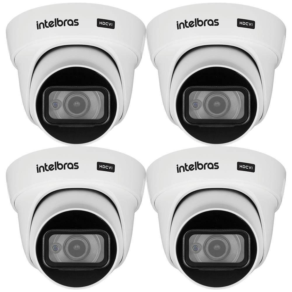 Kit 4 Câmeras HDCVI 4K 8 Megapixel 2.8mm 20m VHD 5820 D 4K Intelbras