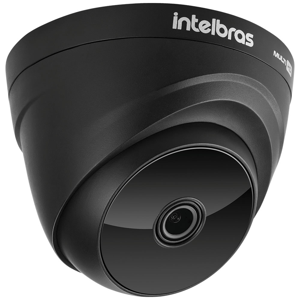 Kit 5 Câmeras Multi HD 2 Megapixels 2.8mm 20m VHD 1220 D G6 BLACK Intelbras
