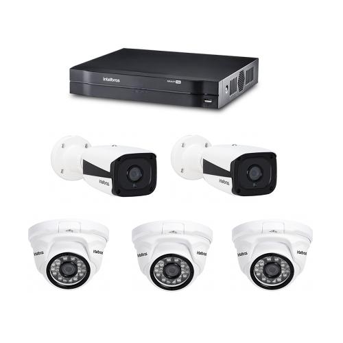 Kit CFTV DVR / NVR Stand Alone MHDX 1004 E Câmeras IPs HD VIP 1120 Intelbras