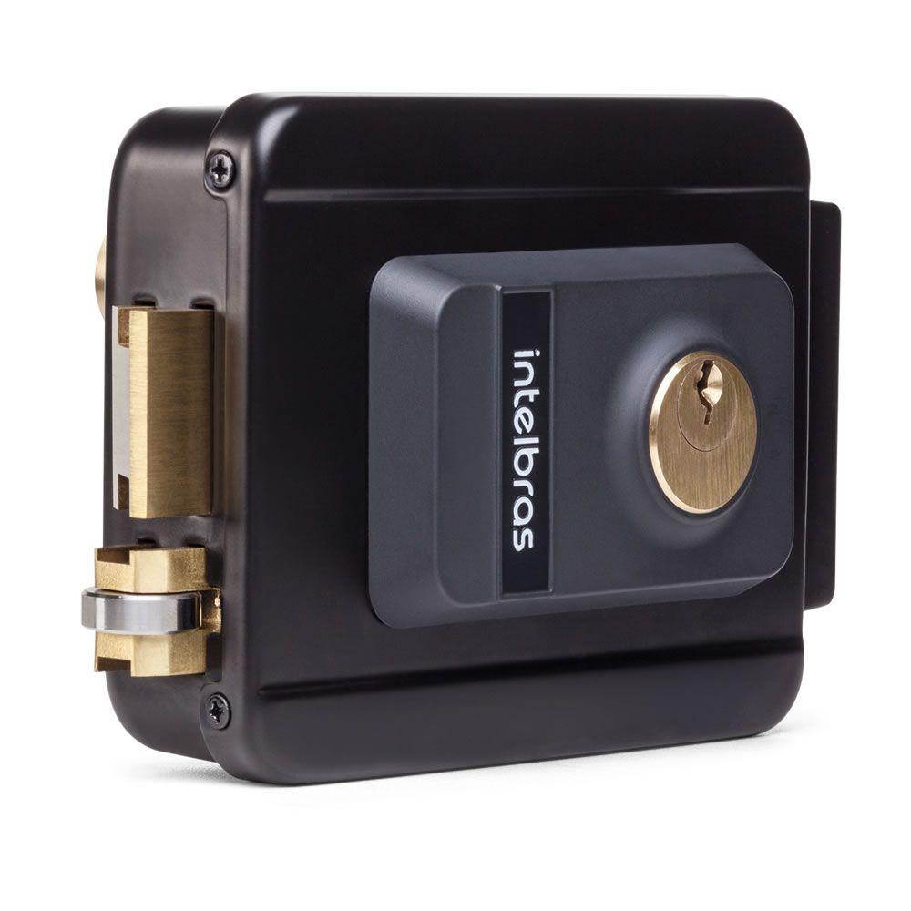 Kit Porteiro Eletrônico IPR 8010 + Fechadura Elétrica FX 2000 Preta Intelbras