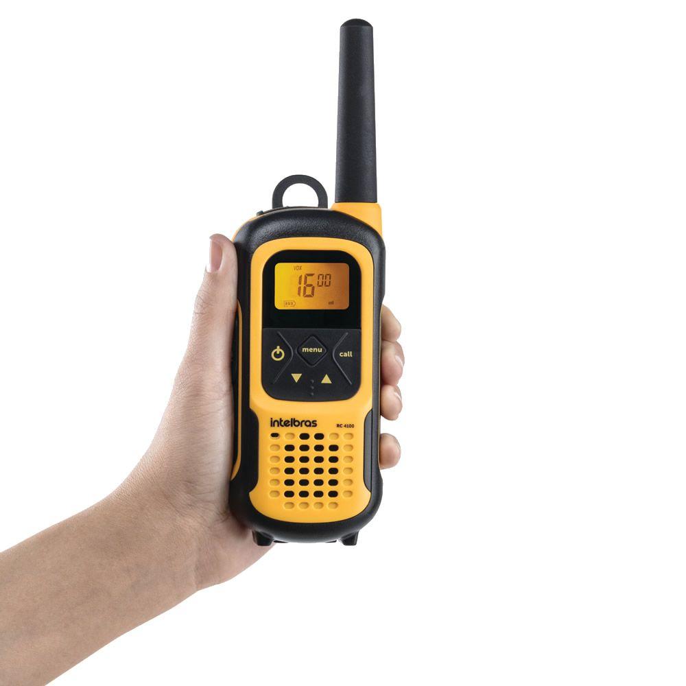 Kit Rádio Comunicador A Prova D'Água IP 67 Waterproof RC 4100 / 4102 Intelbras