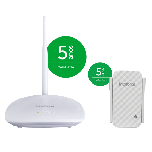 Kit Roteador Wireless Wi-Fi 150 Mpbs IWR 1000 N + Repetidor De Sinal IWE 3001 - Intelbras