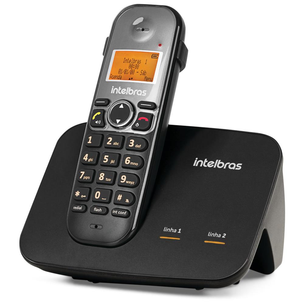 Kit Telefone 2 Linhas Ts 5150 + 1 Ramal Ts 5121 + 2 fones HC 10 Intelbras