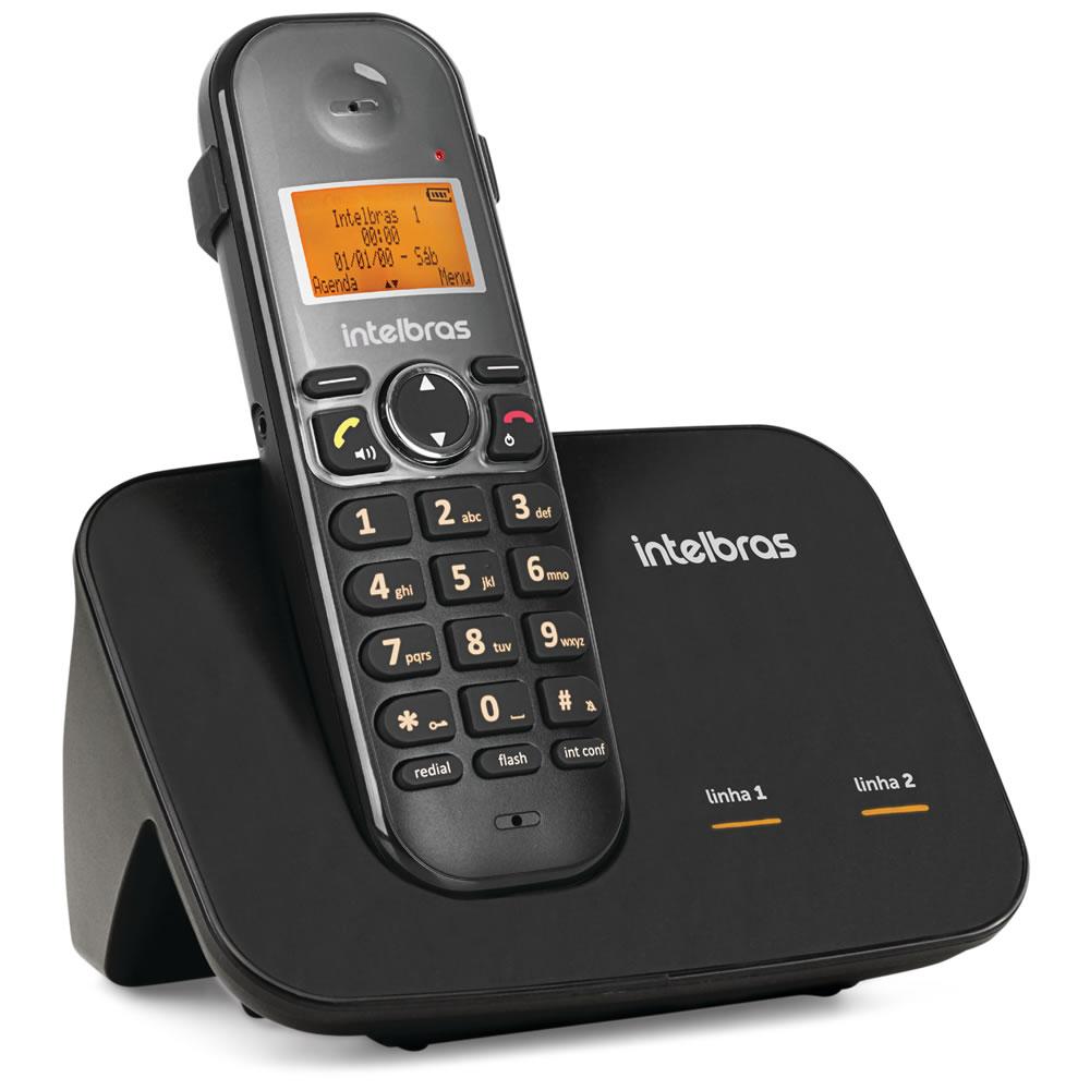 Kit Telefone 2 Linhas Ts 5150 + 9 Ramais Ts 5121 Intelbras
