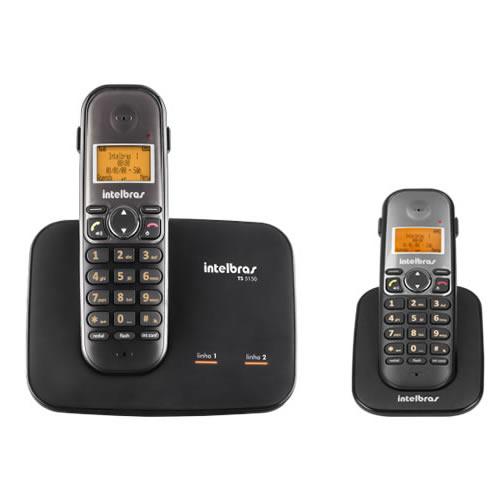 Kit Telefone 2 Linhas Ts 5150 + 1 Ramal  Ts 5121 Intelbras