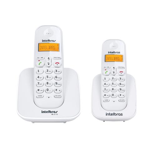 Kit Telefone Sem Fio Ts 3110 + 1 Ramal Ts 3111 Branco Intelbras