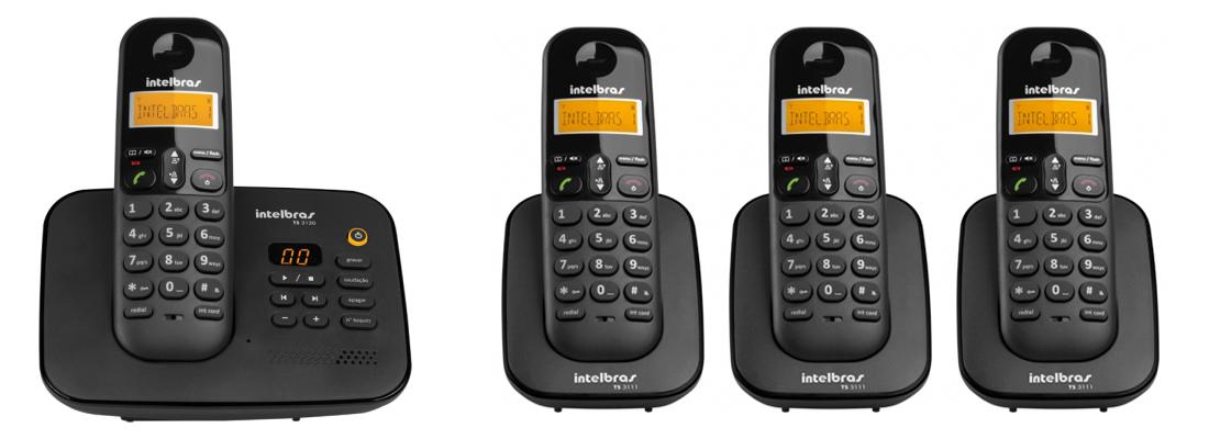 Kit Telefone Sem Fio Ts 3130 + 3 Ramais Ts 3111 Intelbras