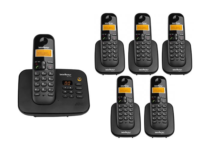 Kit Telefone Sem Fio Ts 3130 + 5 Ramais Ts 3111 Intelbras