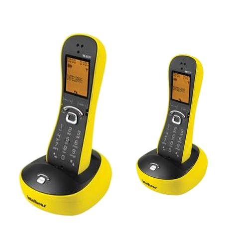 Kit Telefone Sem Fio Com Design Exclusivo TS 8220 + 1 Ramal Amarelo - Intelbras