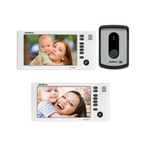Kit Video Porteiro Color IV 7010 HF + 1 Extensão Vídeo IV 7000 HF IN Intelbras
