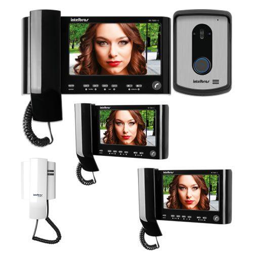 Kit Vídeo Porteiro Color IV 7010 HS + 2 Extensões Vídeo IV 7000 HS IN + 1 Extensão Áudio IV 7000 EA Intelbras