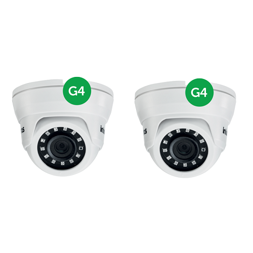 Kit CFTV 2 Câmeras AHD 1 Mega ou Analógica 10m 3.6mm VMD 1010 IR G4 Intelbras