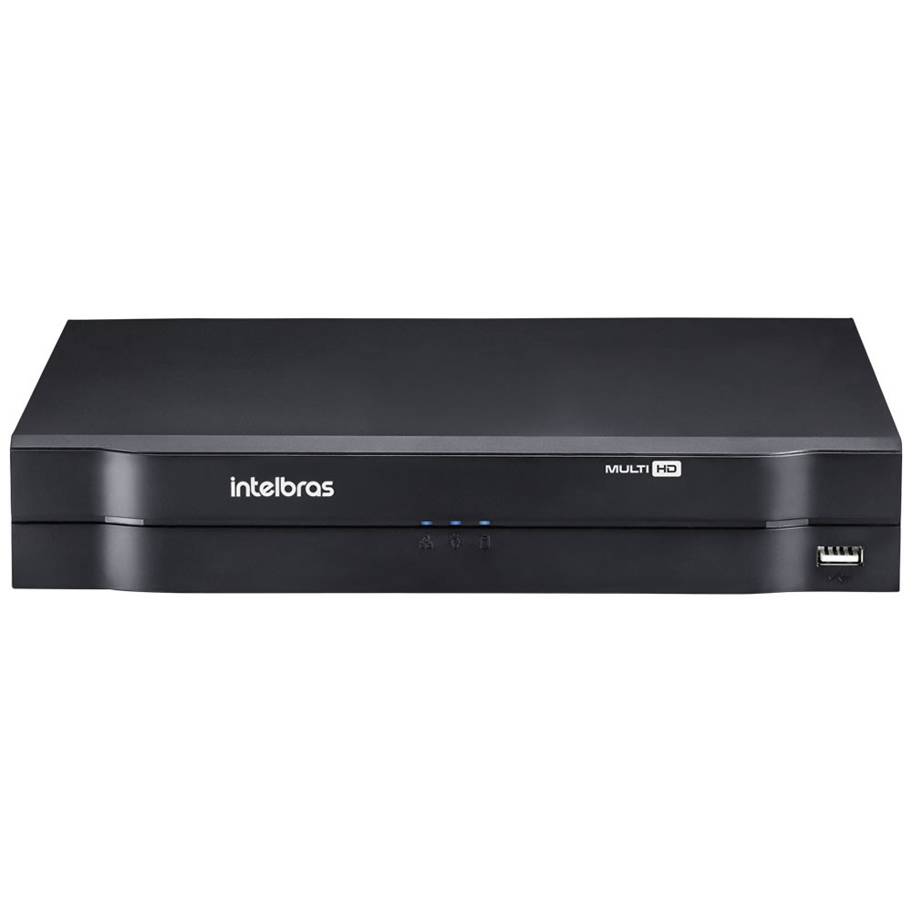 DVR Stand Alone 08 Canais 1080P LITE MULTI HD MHDX 1108 + HD 6 TB Purple Intelbras