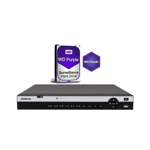 Dvr Stand Alone Multi HD 16 Canais 4K Ultra HD MHDX 5116 Intelbras + HD 6TB Intelbras