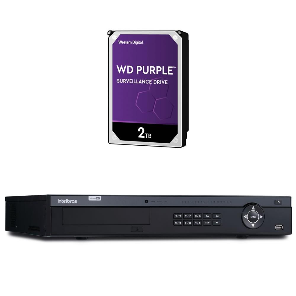 Stand Alone 16 Canais 4K Ultra HD + HD 2 Teras MHDX 7116 Intelbras
