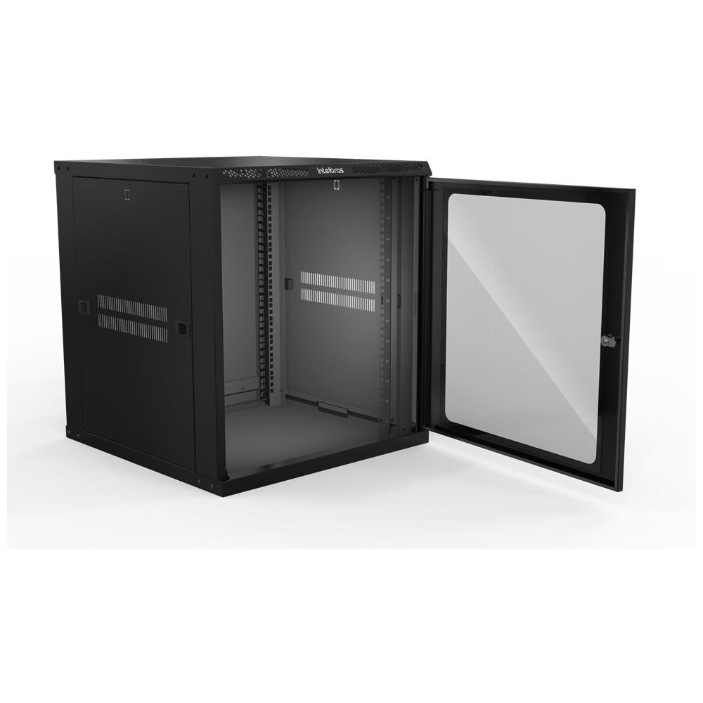 "Mini Rack Desmontável de Parede 12U de 19"" X 570 mm MRD 1257 Intelbras"