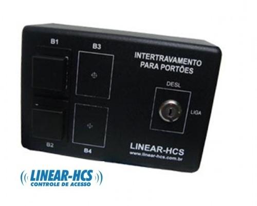 Módulo Intertravamento 2 Botões Até 4 Portões Ln-308 Linear