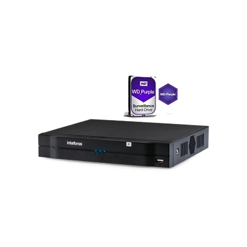 Gravador de Vídeo NVR 16 Canais Full HD NVD 1216 + HD 1TB Intelbras