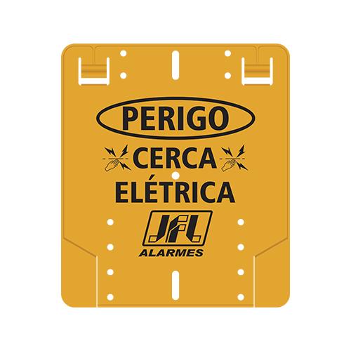 Placa de Advertência Para Cerca Elétrica Dupla Face - JFL
