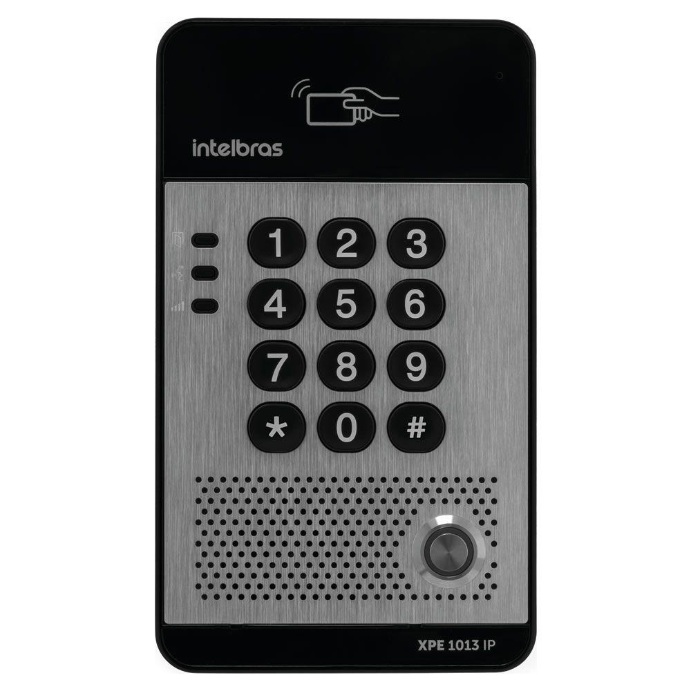 Porteiro Eletrônico IP Senha Tag Cartão RFID  XPE 1013 IP Intelbras