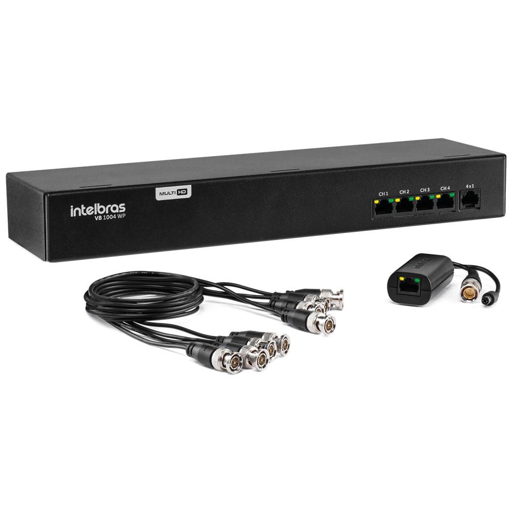 Power Balun 4 Canais Full HD com Alimentação VB 1004 WP Intelbras