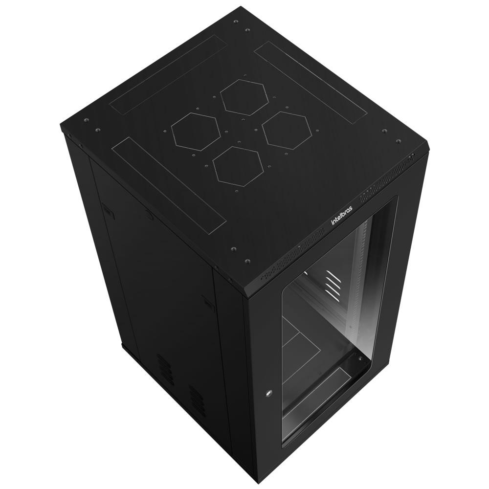 "Rack de piso desmontável 24U de 19"" X 670 mm RPD 2467 Intelbras"