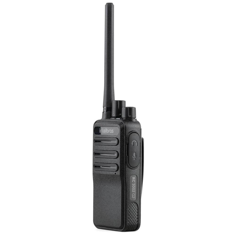 Rádio Comunicador Walkie-Talkie Com Fone de Ouvido RC 3002 G2 Intelbras