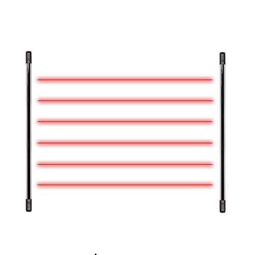 Sensor Barreira Tipo Cerca 6 Feixes 100m IVA 7100 HEXA Intelbras