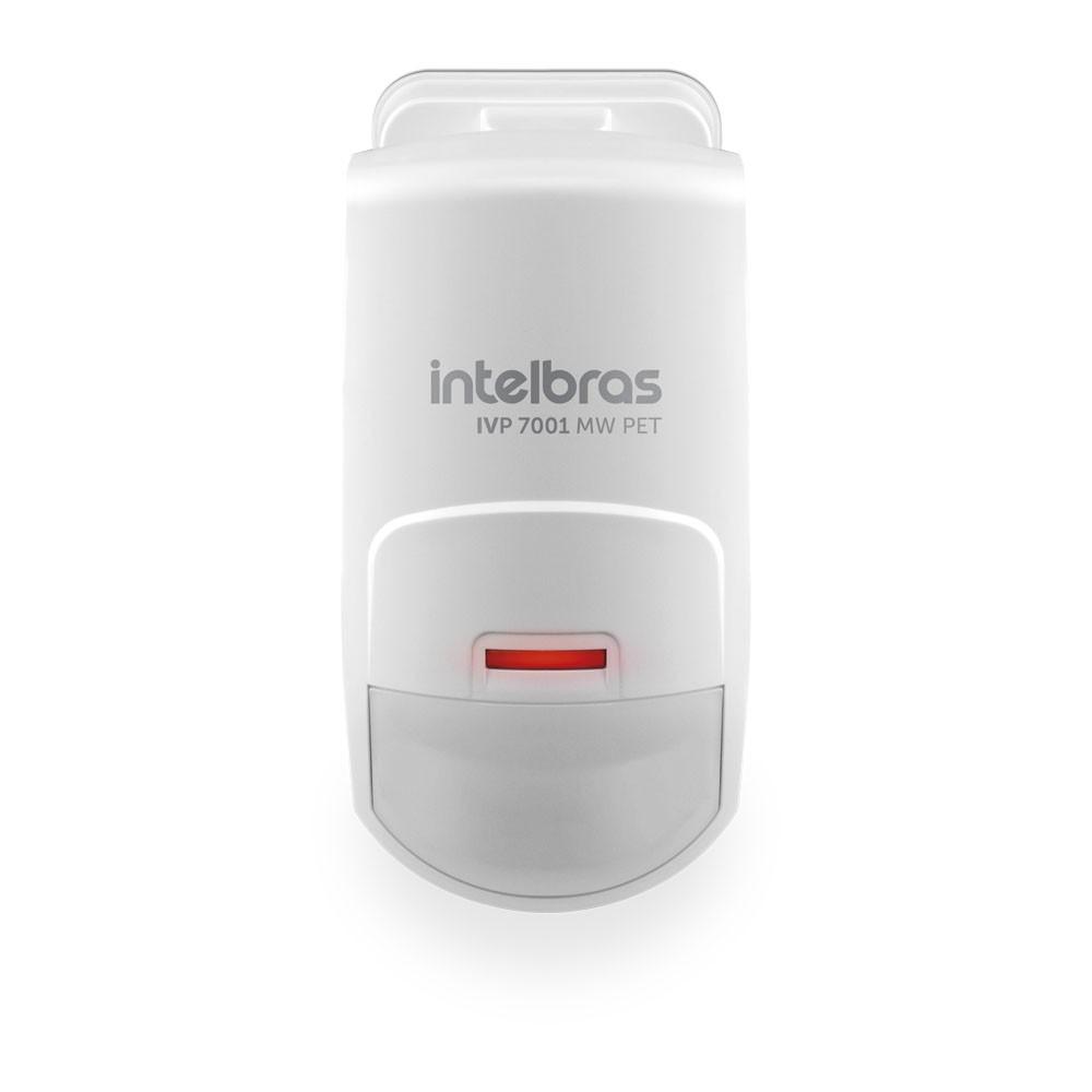 Sensor Infra Micro-ondas Pet Immunity 20 Kg Interno IVP 7001 MW PET Intelbras