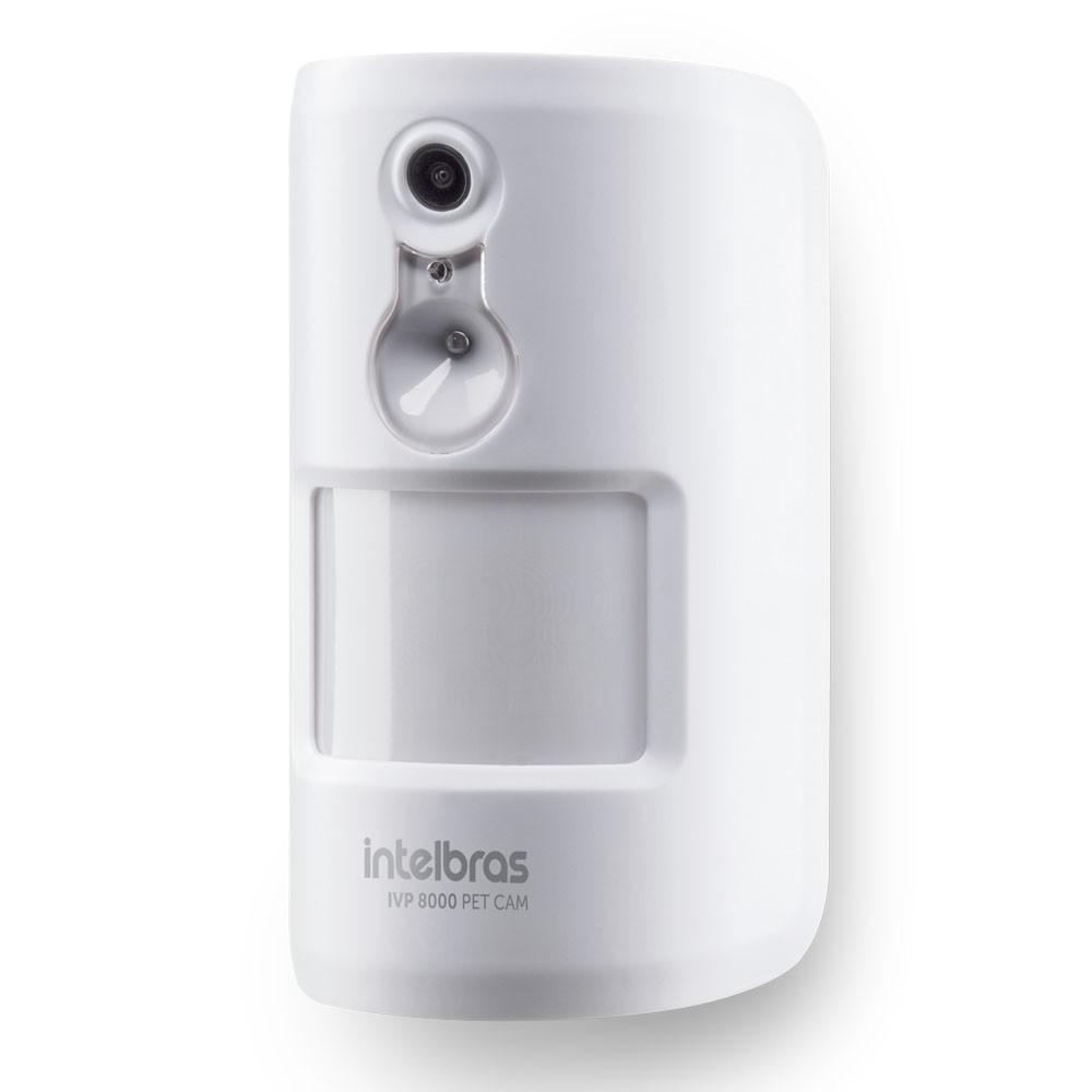 Sensor de Movimento Infra Sem Fio Pet Immunity 20Kg c/ Câmera Integrada  IVP 8000 PET CAM Intelbras
