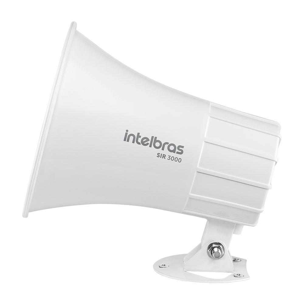 Sirene Magnética Alarme e Cerca 9 a 15 VDC 120dB SIR 3000 Branco Intelbras
