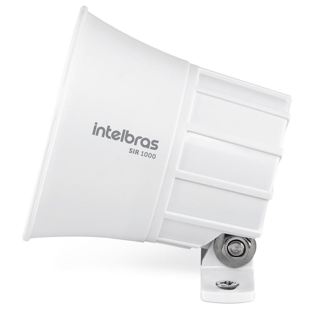 Sirene Piezo Alarme e Cerca 9 a 15 VDC 105dB SIR 1000 Branco Intelbras
