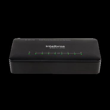 Switch 8 Portas Fast Ethernet Poe Passivo SF 800 Q+ ULTRA Intelbras
