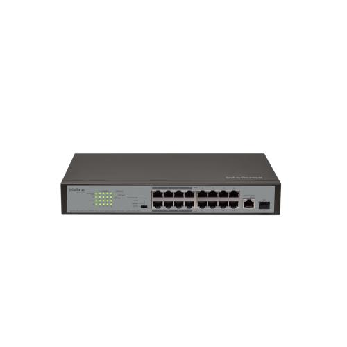 Switch 16 Portas Fast PoE + 01 Porta Giga + 01 Porta Mini-GBIC/SFP SF 1811 PoE Intelbras