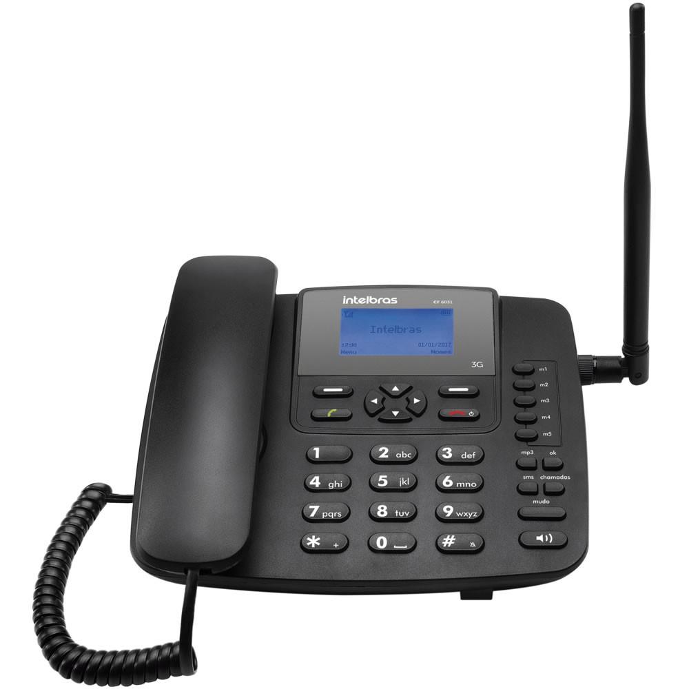 Kit Telefone Celular Fixo 3G CFA 6041 Intelbras