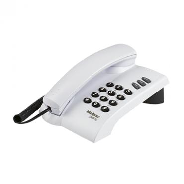 Telefone Com Fio e Chave 3 Funções Pleno Branco Intelbras