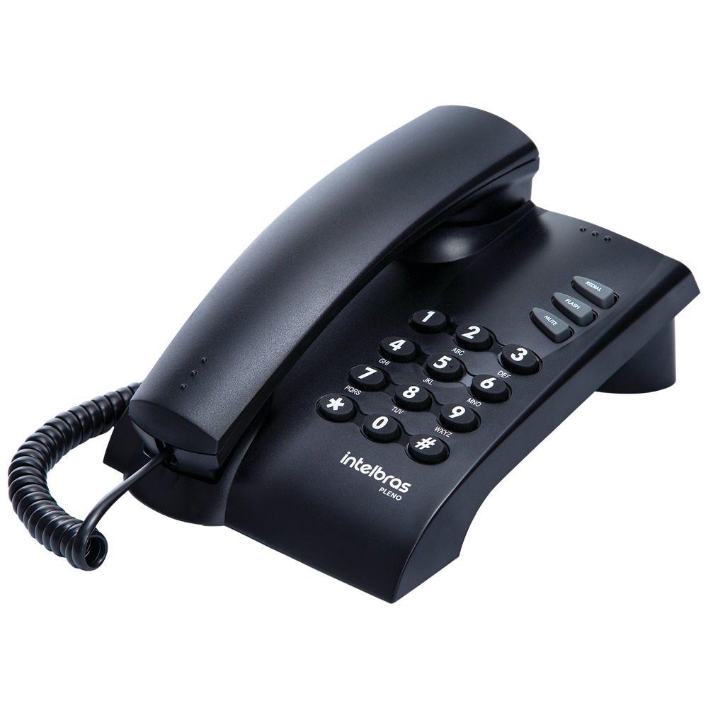 Telefone Com Fio e 3 Funções Intelbras Pleno Preto