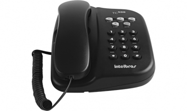 Telefone de Mesa e parede 5 Funções Tc 500 Preto Intelbras
