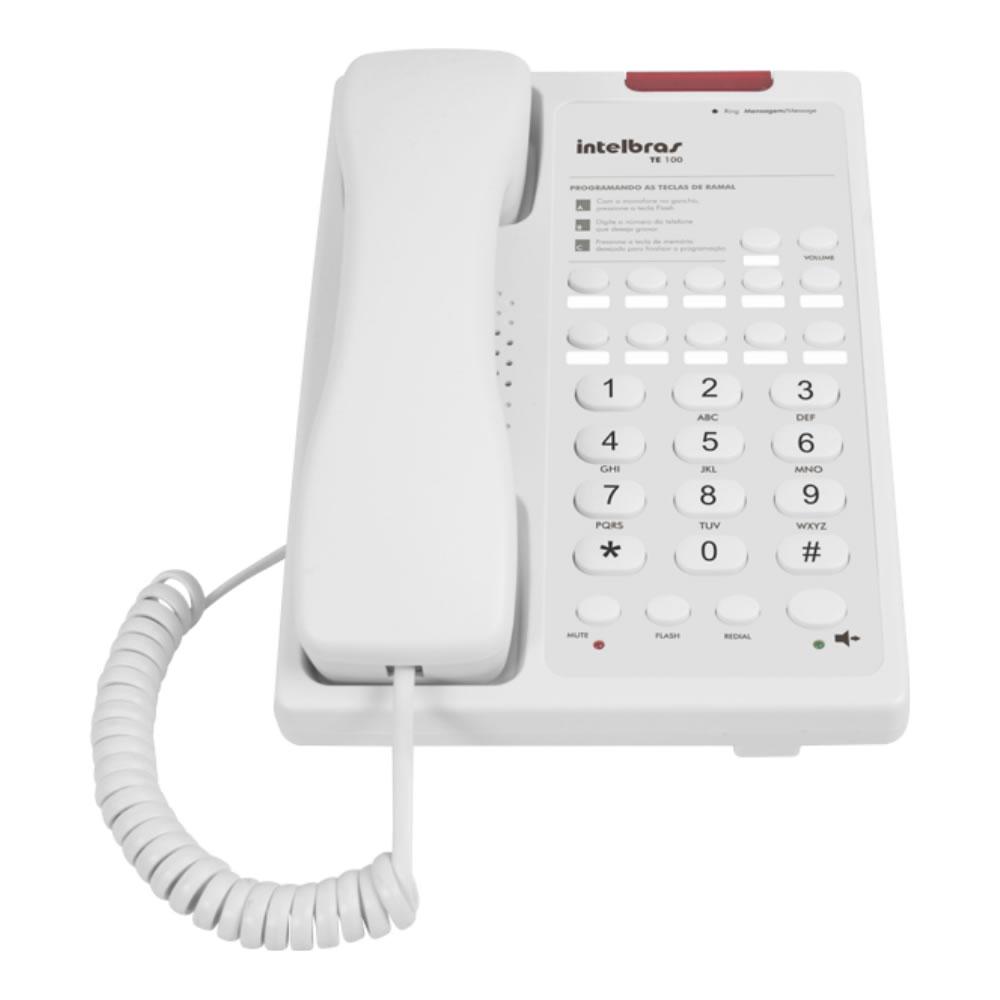 Telefone Executivo Para Hotelaria Te 100 Branco Intelbras